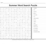 Summer Worksheets: Summer Word Search Puzzle   Primarygames   Play   Printable Crossword Puzzles Summer
