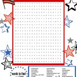 Superstar Celebration: July 4Th Word Search Printable | Scholastic   Printable 4Th Of July Crossword Puzzle