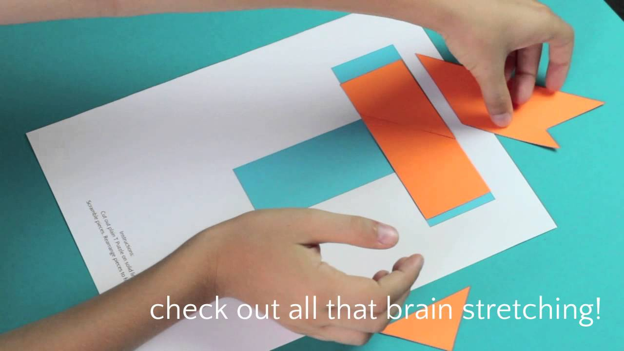 T Puzzle Solution And Printable - Youtube - Printable Origami Puzzle