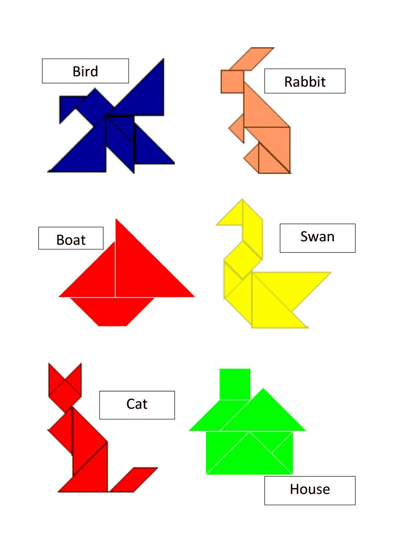 Tangram Templates.pdf | Math | Tangram Puzzles, Math Games, Puzzle - Printable Tangram Puzzles Pdf