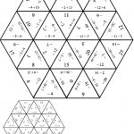 Tarsia Negative Numbers Pdf | The Number System | Negative Numbers   Printable Tarsia Puzzle