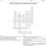 Texas History Crossword Puzzle Crossword   Wordmint   Printable History Crossword