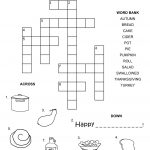 Thanksgiving Crossword Puzzle   Best Coloring Pages For Kids   Printable Thanksgiving Crossword Puzzles