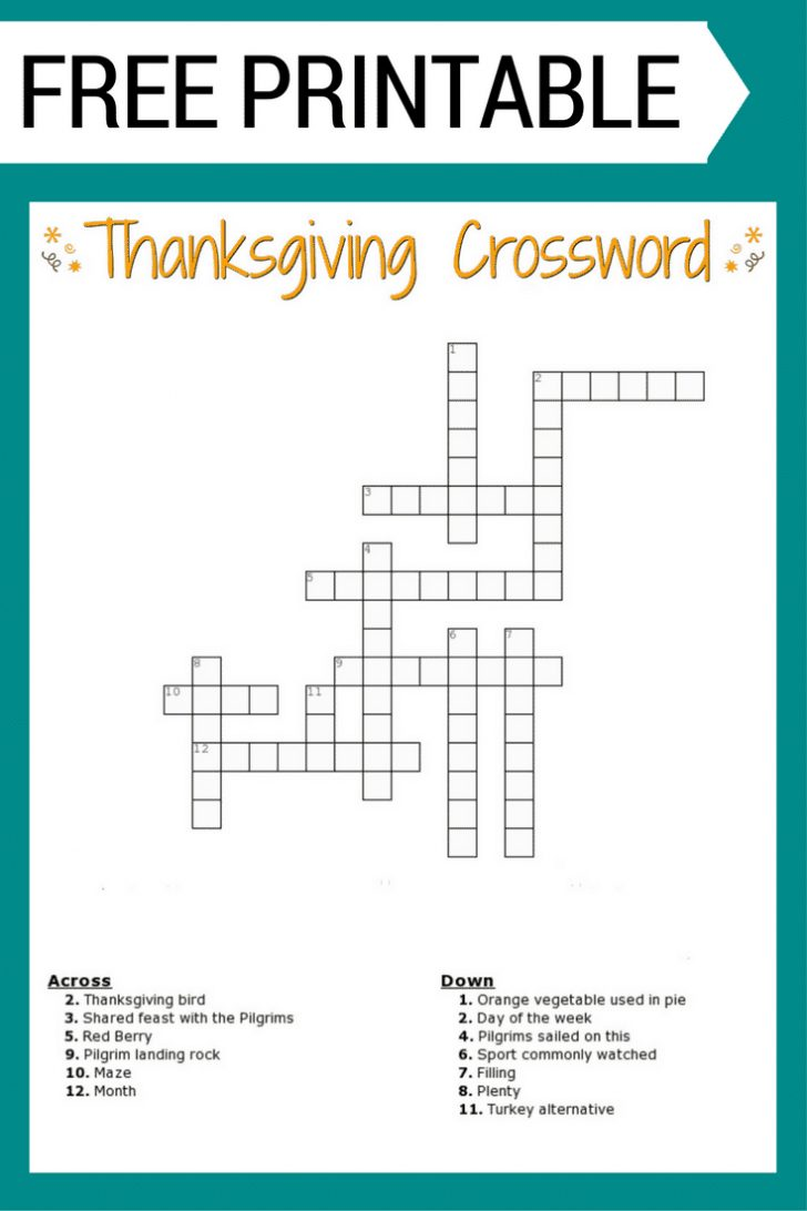Printable Crossword Games
