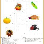 Thanksgiving Crossword Puzzle Printable | Work Thangs | Thanksgiving   Printable Thanksgiving Crossword