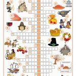 Thanksgiving Crossword Puzzle Worksheet   Free Esl Printable   Printable Thanksgiving Crossword