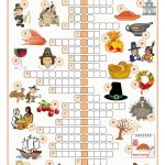 Thanksgiving Crossword Puzzle Worksheet   Free Esl Printable   Printable Thanksgiving Puzzle