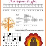 Thanksgiving Puzzles Printables | *holidays We Celebrate   Thanksgiving Crossword Puzzles Printable Free