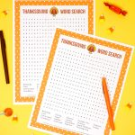 Thanksgiving Word Search Printable   Happiness Is Homemade   Printable Thanksgiving Puzzle