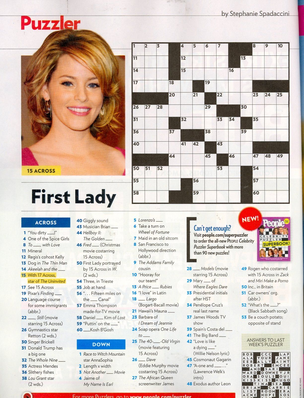 That Time I Was In People Magazine's Crossword. #tbt | Geeky Stuff - Printable People Crossword Puzzles