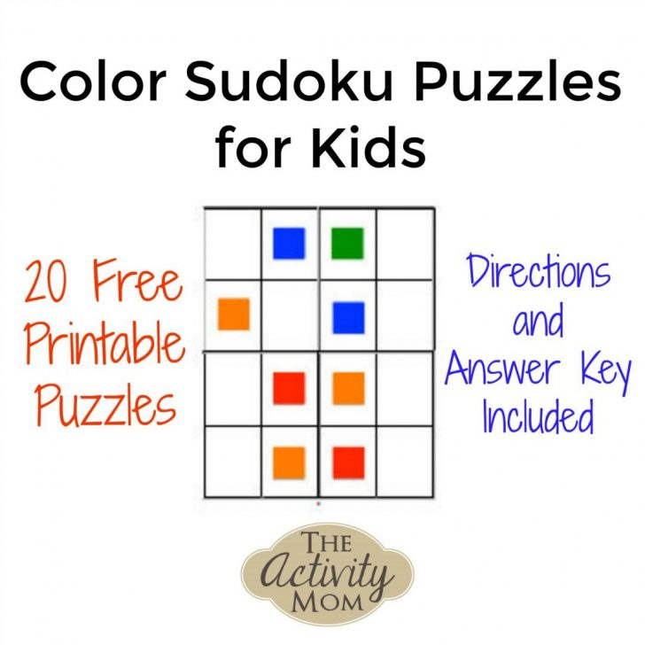 Printable Sudoku Puzzle With Answer Key