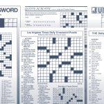 The Daily Commuter Puzzlejackie Mathews | Tribune Content Agency   Printable Crossword Metro