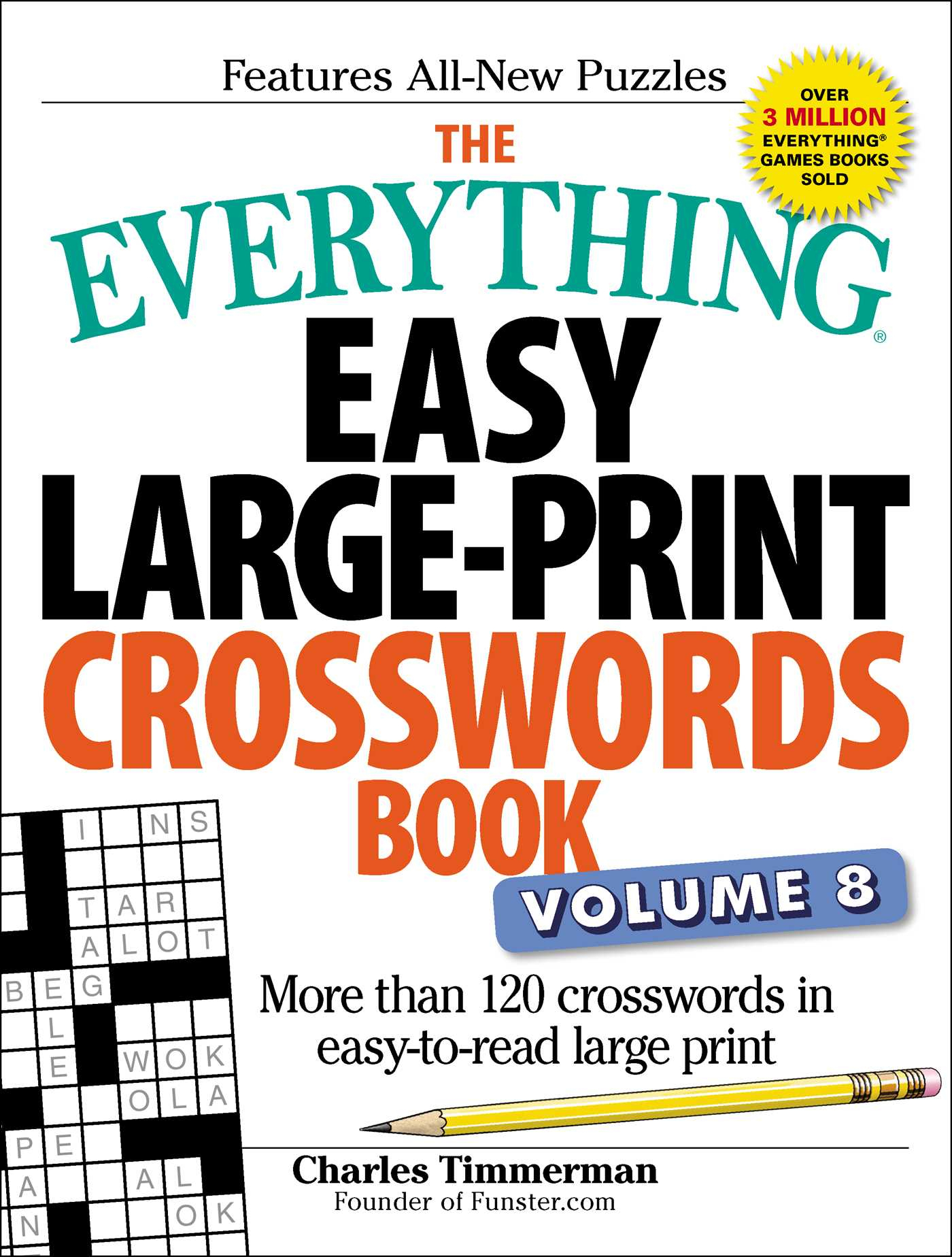The Everything Easy Large-Print Crosswords Book, Volume 8 | Book - Large Print Crossword Puzzle Dictionary