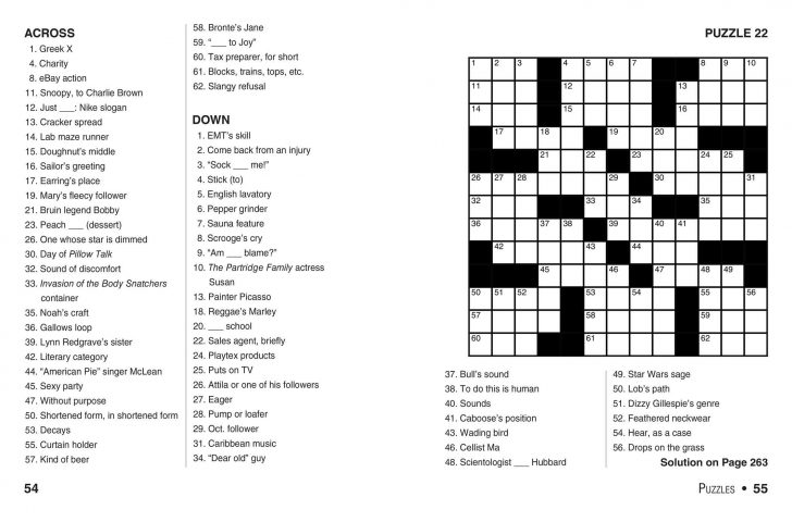 Print Crossword Puzzle Book