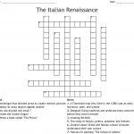 The Italian Renaissance Crossword   Wordmint   Free Printable Italian Crossword Puzzles