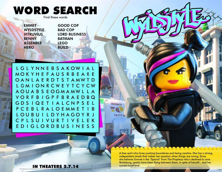 Printable Lego Crossword Puzzle