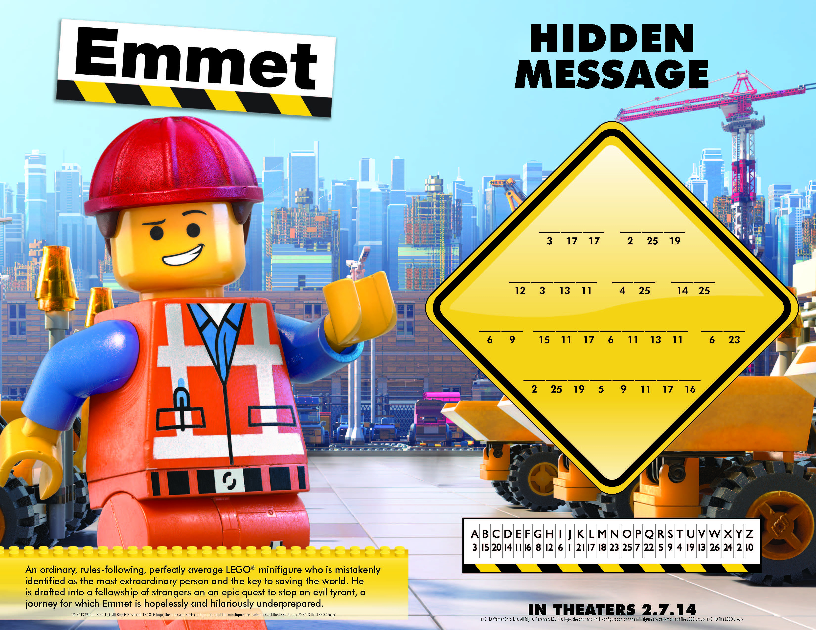 The Lego Movie Printables, Activity And Coloring Pages - Printable Lego Crossword Puzzle