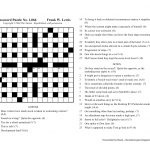 The Nation Cryptic Crossword Forum: Nat Hentoff (Puzzle No. 1,066)   Printable Crossword Puzzles Wsj