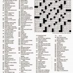 The New York Times Crossword In Gothic: 04.12.15 — Look What Turned – Will Shortz Crossword Puzzles Printable
