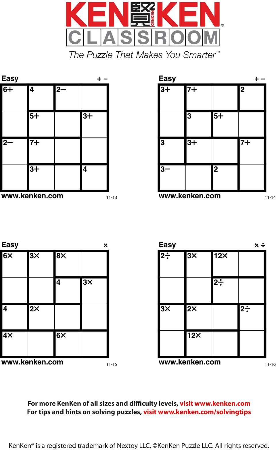 The Puzzle That Makes You Smarter - Pdf - Printable Kenken Puzzle 5X5