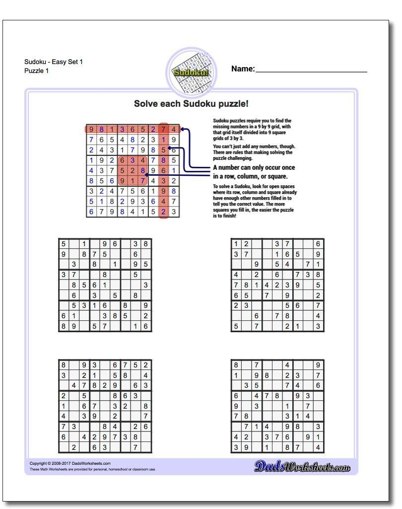 These Printable Sudoku Puzzles Range From Easy To Hard, Including - Printable Puzzles For Adults Pdf