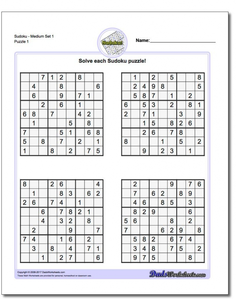 These Printable Sudoku Puzzles Range From Easy To Hard, Including - Printable Puzzles Hard
