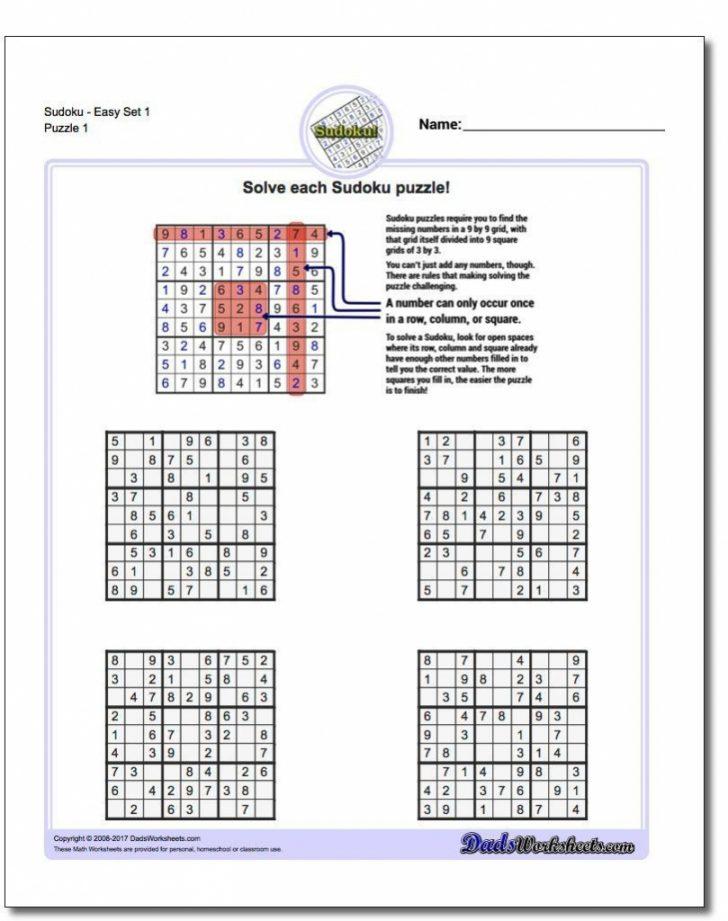 Printable Sudoku Puzzles Pdf