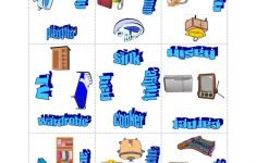 Things In The House Puzzle Game Worksheet – Free Esl Printable – Printable House Puzzle