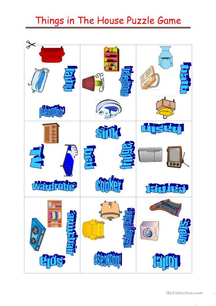 Printable House Puzzle