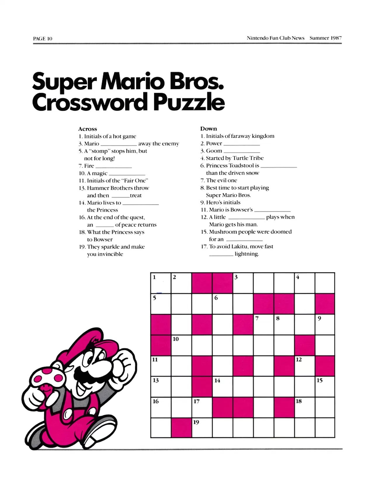 This Crossword Puzzle Is Bs - Video Game Forums - Printable Video Game Crossword Puzzles