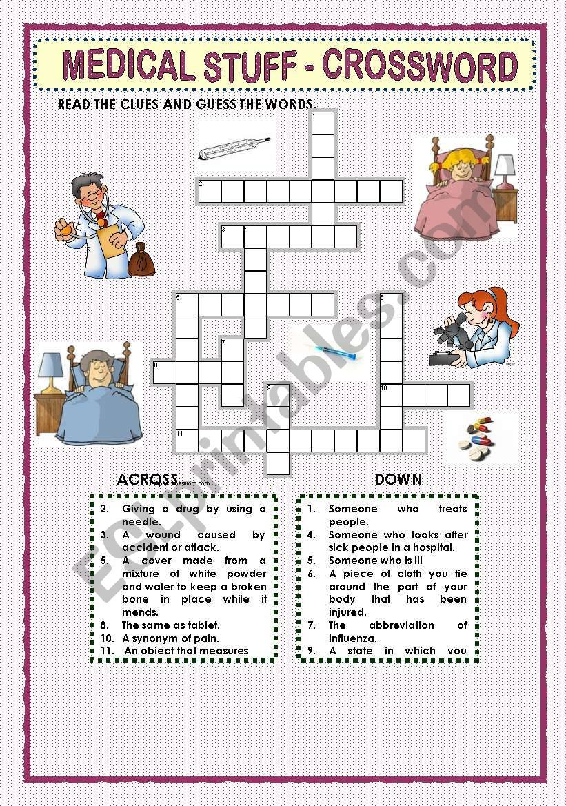 This Crossword Puzzle Was Created With Eclipse Crossword. | Nurses - Nursing Crossword Puzzles Printable