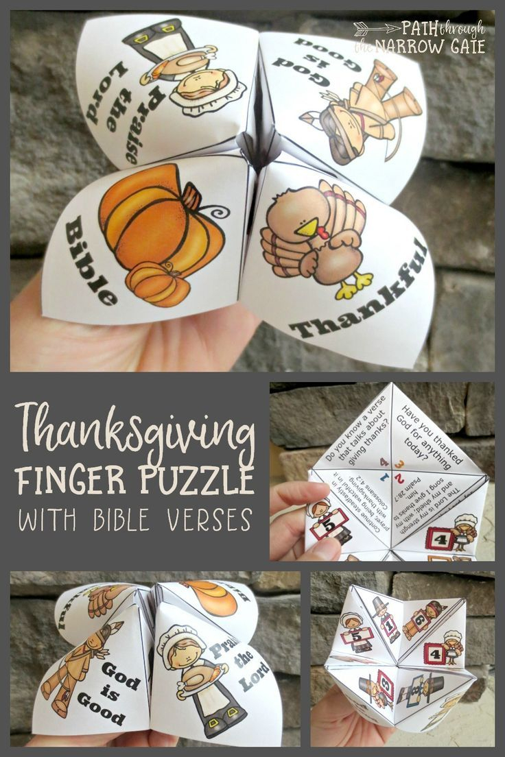 This Finger Puzzle Is So Much Fun! I Love The Thanksgiving Bible - Printable Christmas Finger Puzzle With Bible Verses