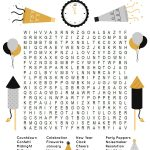 This Fun New Year's Word Search Printable Puzzle Is A Ton Of Fun For   Printable Drop Line Puzzles