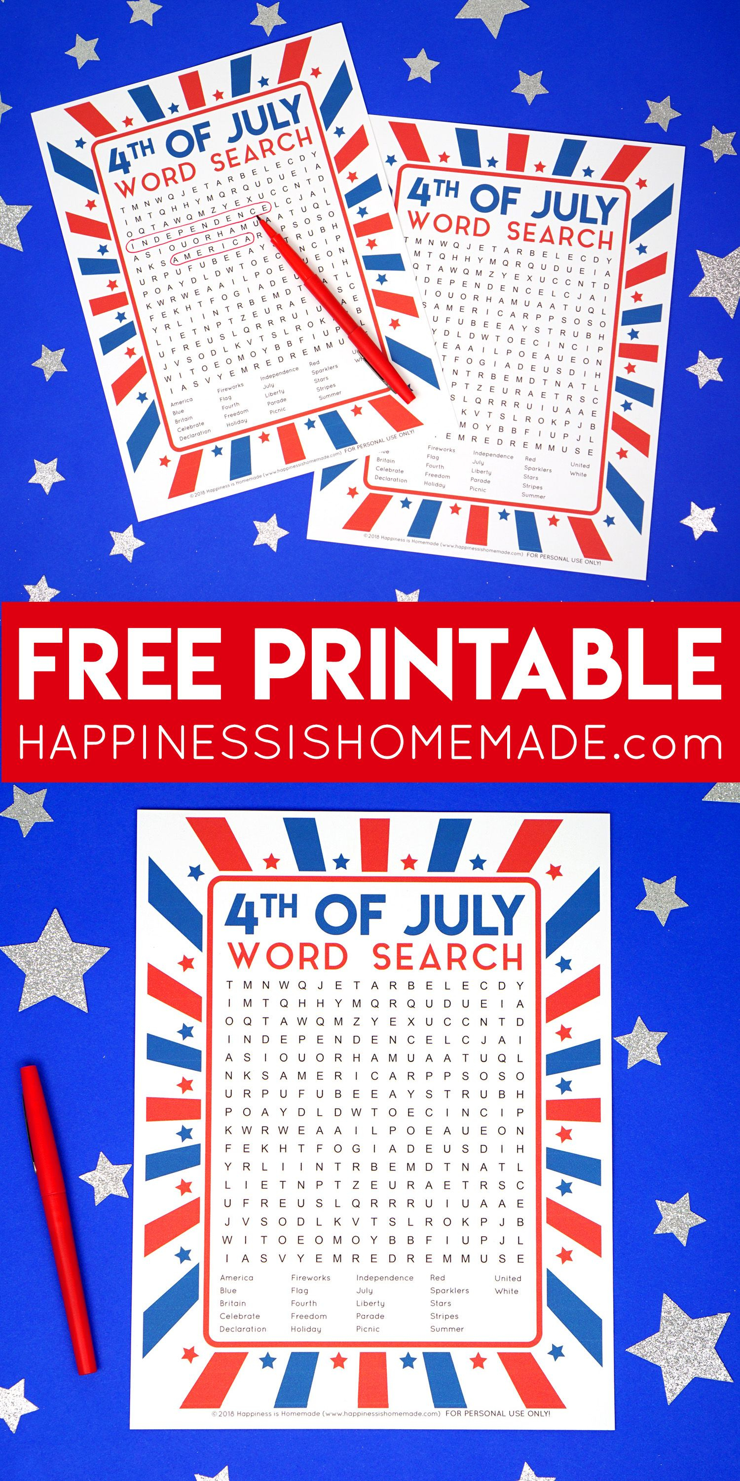 This Fun Printable 4Th Of July Word Search Puzzle Is A Ton Of Fun - Printable July 4Th Puzzles