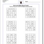 This Page Has 3X3, 4X4 And 5X5 Magic Square Worksheets That Will Get   Printable Sudoku Puzzles 3X3
