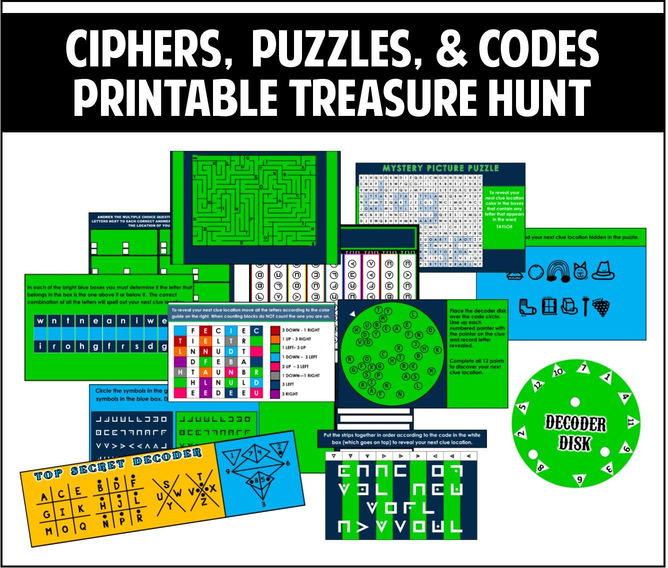 This Printable Treasure Hunt Is All About Ciphers, Puzzles, And - Printable Decoder Puzzles