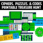 This Printable Treasure Hunt Is All About Ciphers, Puzzles, And   Printable Escape Room Puzzle