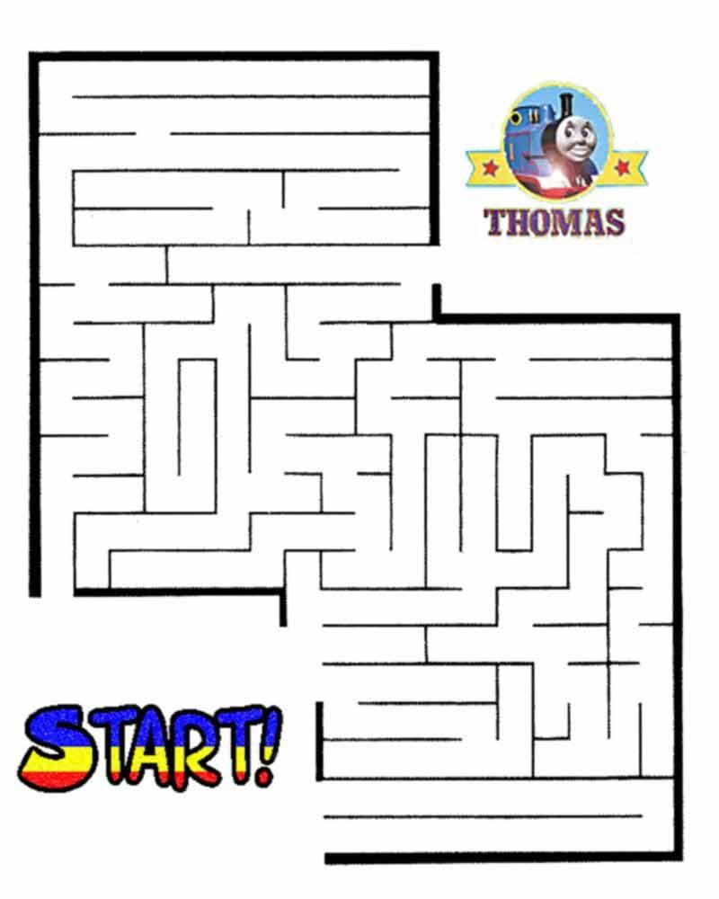 Thomas The Train Halloween Worksheets For Kids | Printable Maze - Printable Train Puzzle