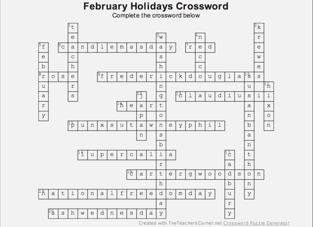 Top Epic The Teachers Corner Net Crossword Puzzle Generator | Thehydra - Jacqueline E Mathews Printable Crossword Puzzles