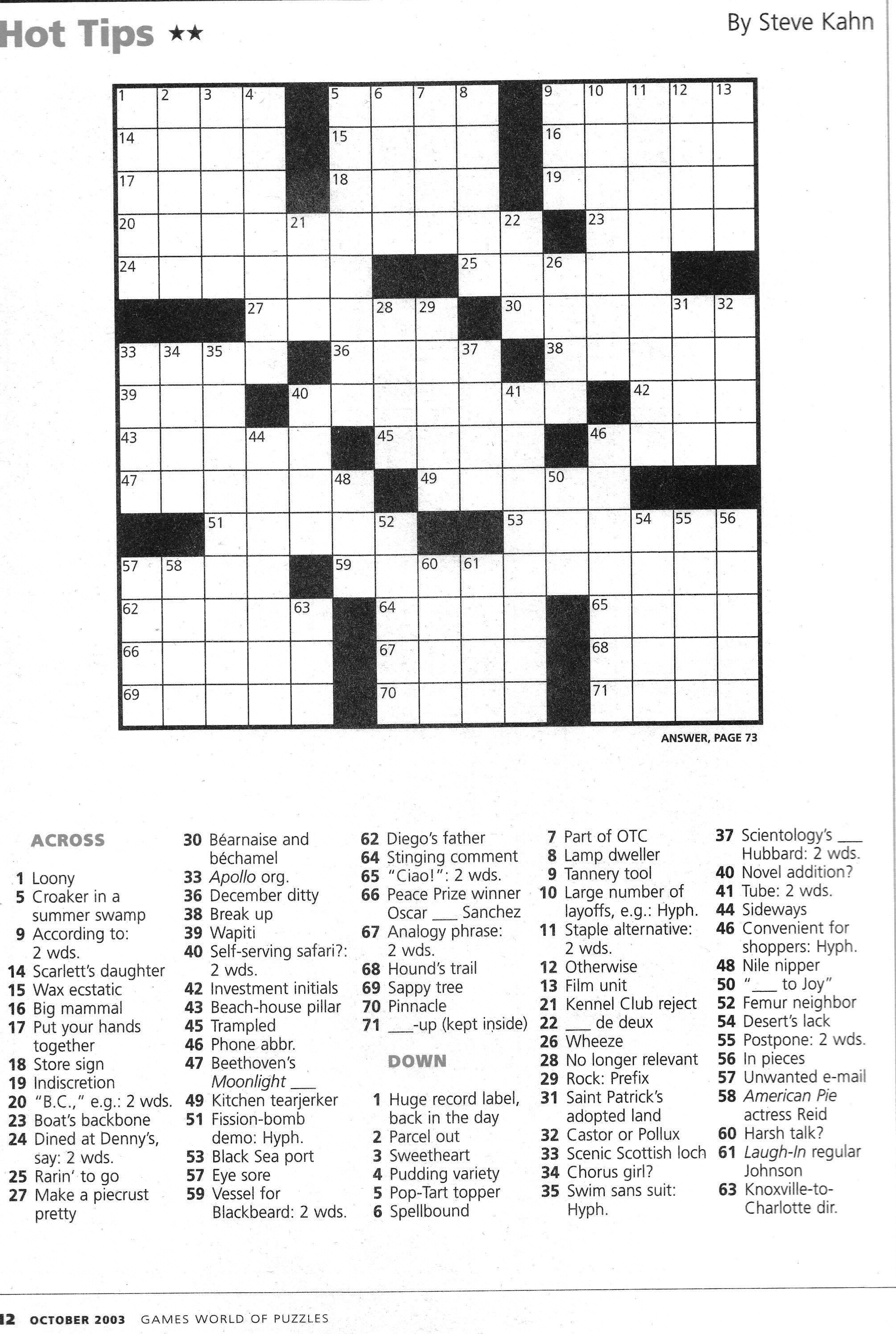 Totally Free Crossword Solver And Information Crossword 2017 - Printable Crossword Clue