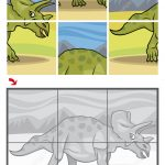 Triceratops Dinosaur Jigsaw Puzzle   Free Printable Puzzle Games   Printable Dinosaur Puzzle