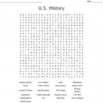 U.s. History Word Search   Wordmint   Printable History Crossword