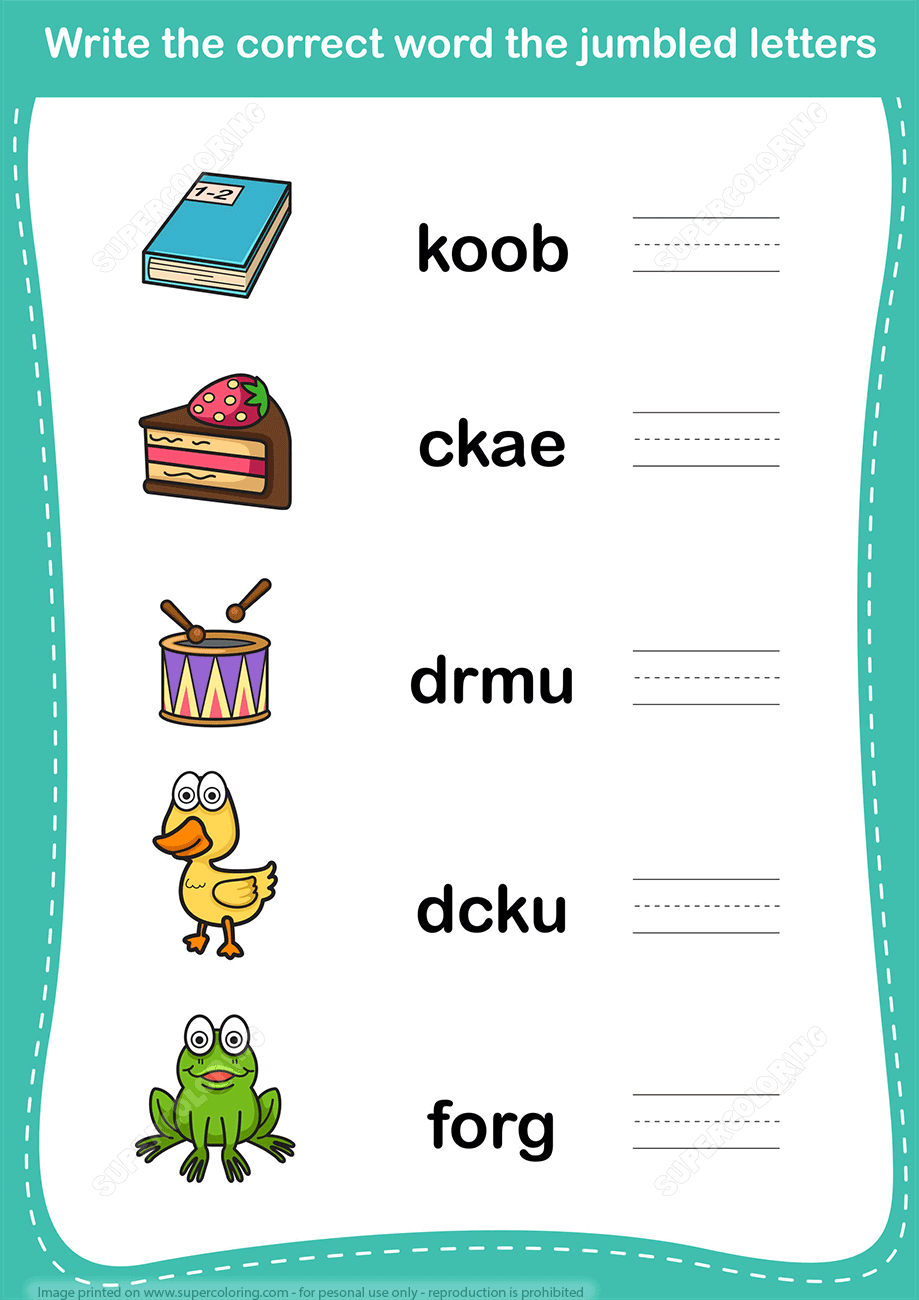 Unscramble Word Worksheet Copy | Free Printable Puzzle Games - Printable Unscramble Puzzles