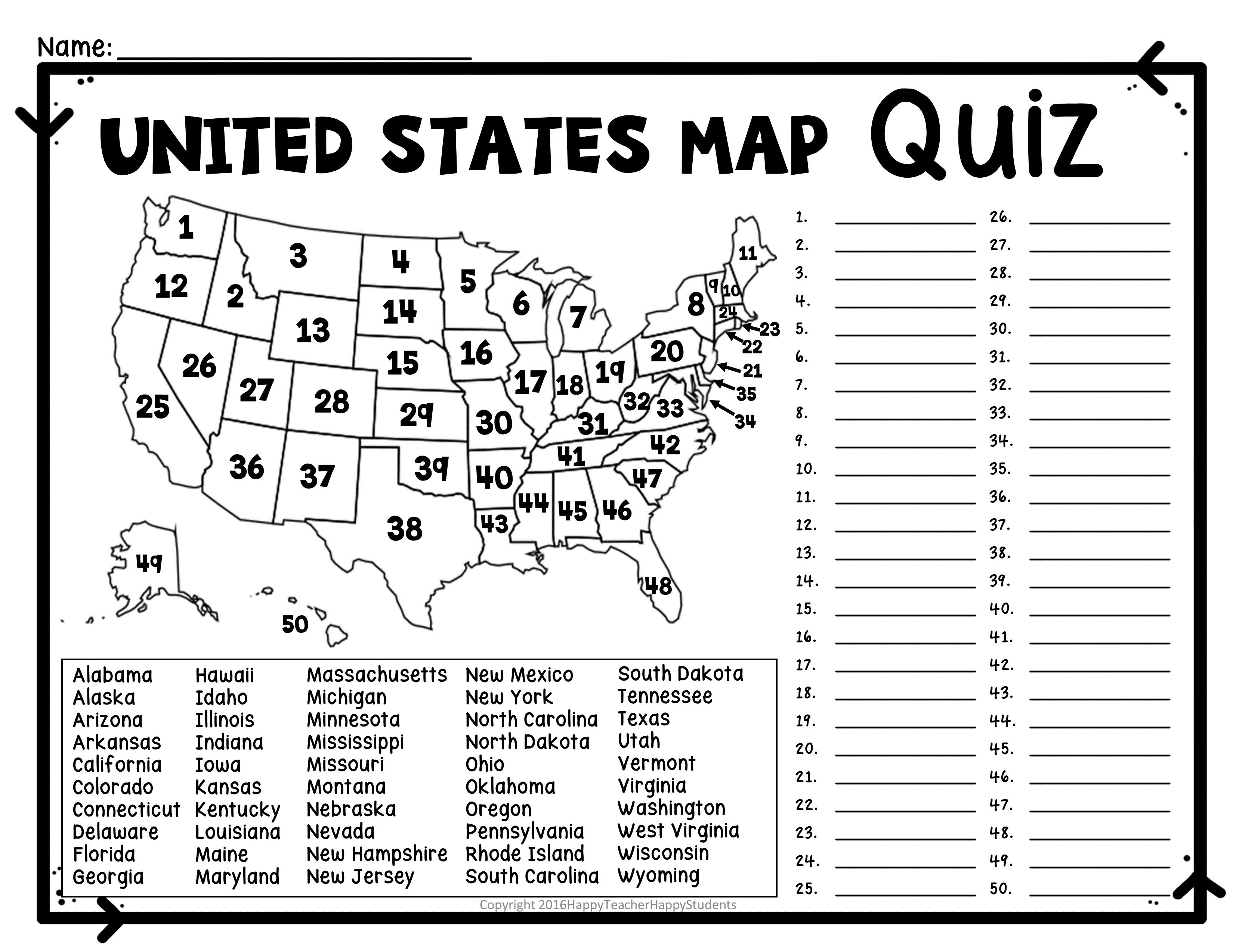 Us Rivers And Lakes Map Quiz New United States Map Puzzles Printable - Printable Quiz Puzzles