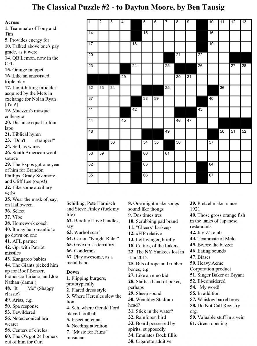 Usa Crossword Puzzles Printable – Jowo - Free Printable Crosswords - Free Printable Crossword Puzzles Usa Today