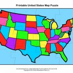 Usa Map Puzzle In Printable Us State World Maps New On Printable Us   Printable State Puzzle