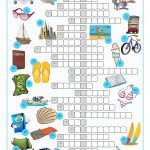 Vacation Crossword Puzzle Worksheet   Free Esl Printable Worksheets   Free Printable Crossword Puzzles Holidays