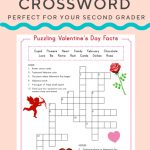 Valentine Crossword | Elementary Activities And Resources – Printable Valentine Crossword Puzzle