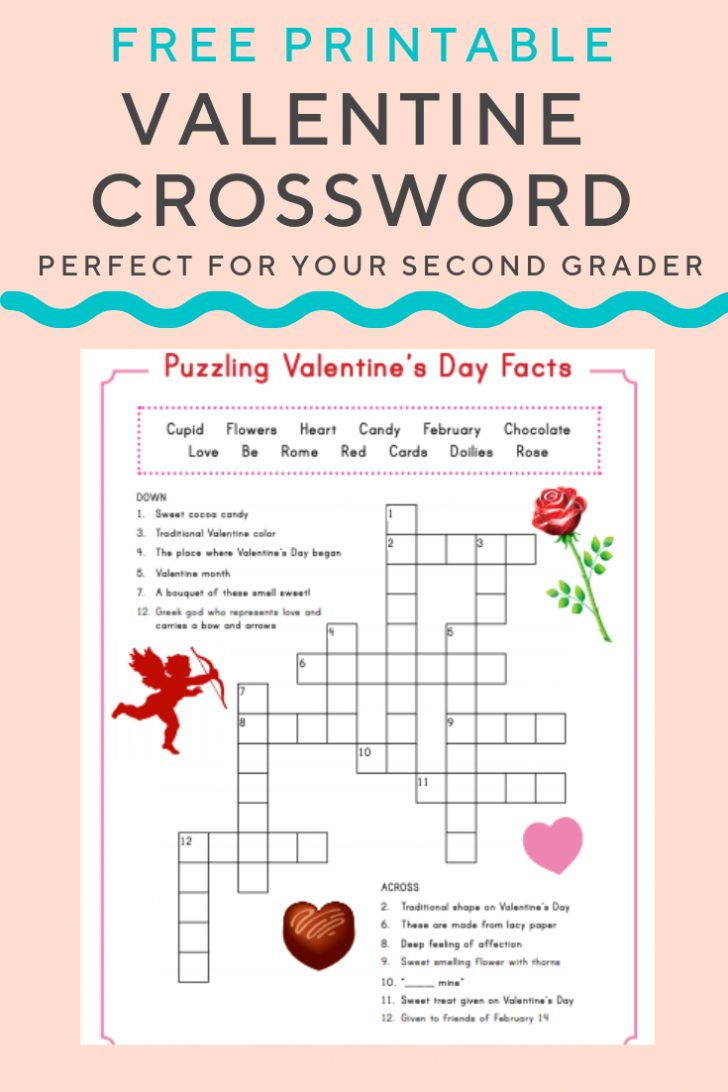 Printable Valentine Crossword Puzzle