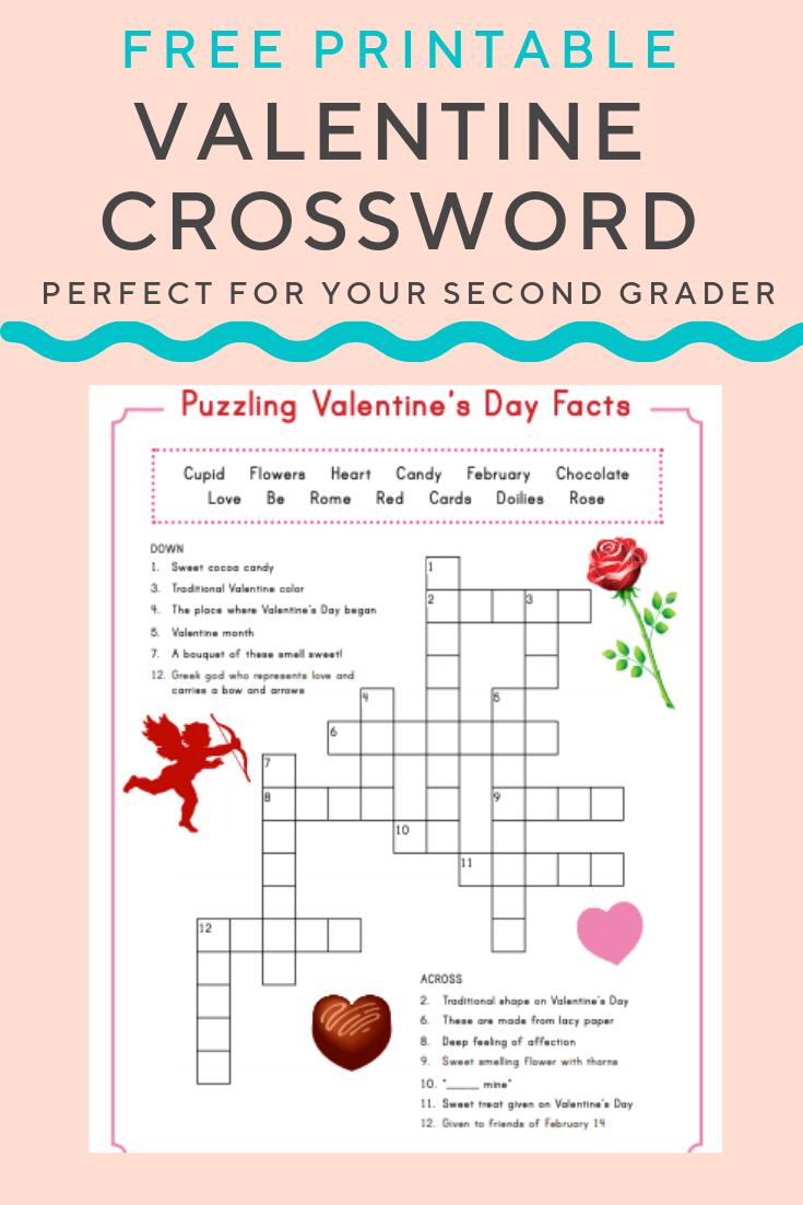 Valentine Crossword | Elementary Activities And Resources - Printable Valentine Puzzles Games